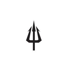 Trident icon logo design template vector