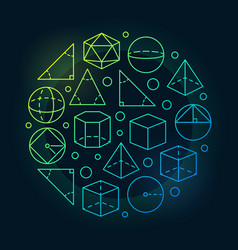 Trigonometry and geometry colorful vector