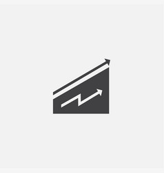 uptrend base icon simple sign vector image