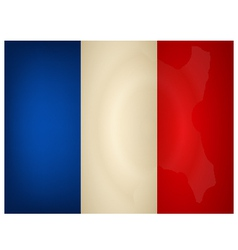Vintage France Flag vector image