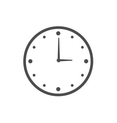 wall clock logo icon design template vector image