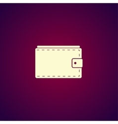Wallet with cash simple icon on white background vector image