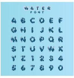Water font set template design vector