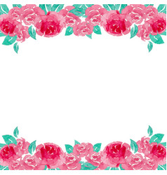 Watercolor rose background vector