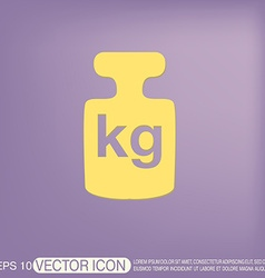 weight icon symbol denoting a measure of weight vector image
