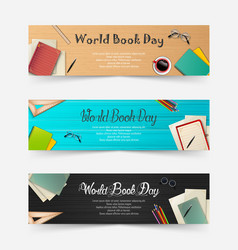 world book day banners set vector image