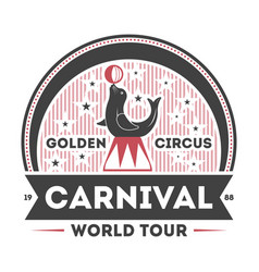 World carnival tour vintage isolated symbol vector