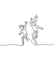 happy jumping and dancing children vector image vector image