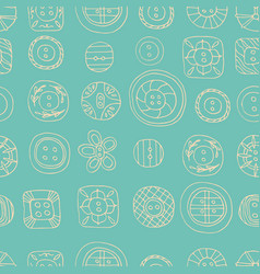 lovely buttons seamless pattern vector image