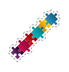 puzzle jigsaw solution image vector image
