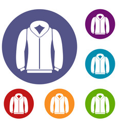 sweatshirt icons set vector image