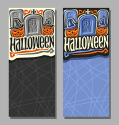 vertical banners for halloween vector image