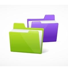 File Folder Colorful Set vector image