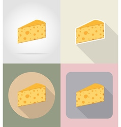 food objects flat icons 04 vector image vector image