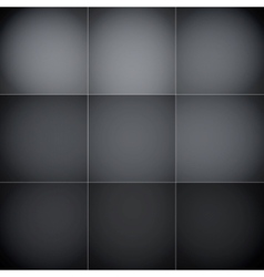 Gray and black squares abstract background vector image