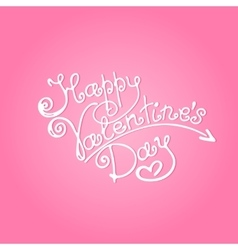 Happy Valentines Day inscription vector image