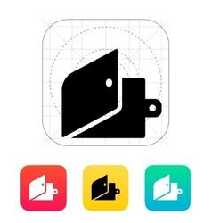 Open wallet icon vector image