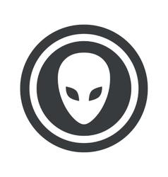 Round black alien sign vector image