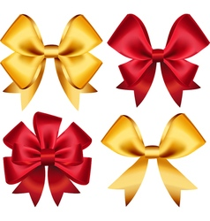 Set of colorful gift bows Created with gradient vector image