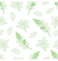 tea pattern-03 vector image vector image