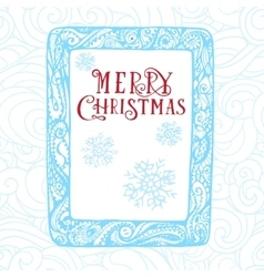 Christmas card hand drawn concept design in vector image vector image