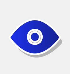 eye sign new year bluish vector image vector image