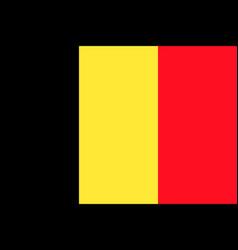 flag of belgium flag vector image