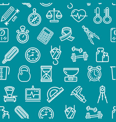 measurement signs seamless pattern background on a vector image vector image