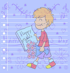 mother day greeting card style vector image