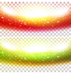 Shiny waves anner set vector image vector image