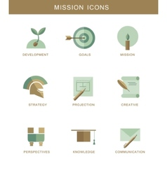 Abstract mission flat design simbol icons vector image
