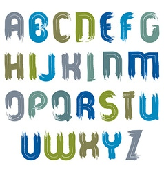 acrylic hand-painted colorful capital letters vector image
