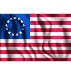 American Betsy Ross Flag Rectangular Shaped vector image