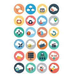 Cloud Computing Flat Icons 3 vector image vector image