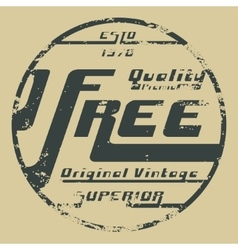 Free vintage stamp vector image