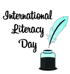 Happy international literacy day vector