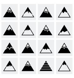 Mountains icon set vector image