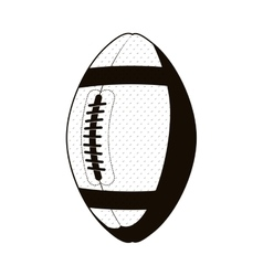 silhouette monochrome with football ball vector image vector image