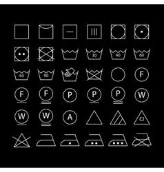 White washing symbols vector image