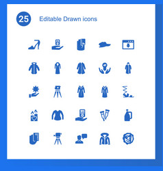 25 drawn icons vector