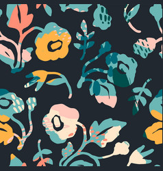 Abstract floral seamless pattern modern abstract vector