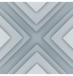 Abstract gray and white triangle shapes background vector image