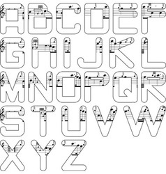 alphabet music vector image