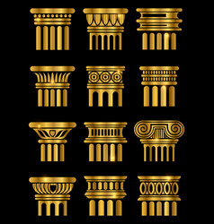 Ancient architecture column vector