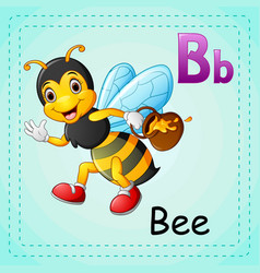 animals alphabet b is for bee vector image