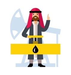 Arab Oil Industry Flat style colorful vector