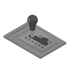 Automatic car gearbox icon isometric style vector