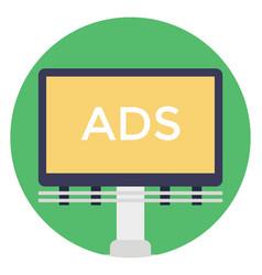 Billboard advertisement vector