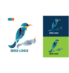 Bird ilstrution logo template design mockup vector
