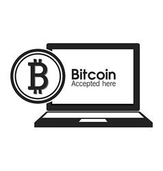 Bitcoins design vector image